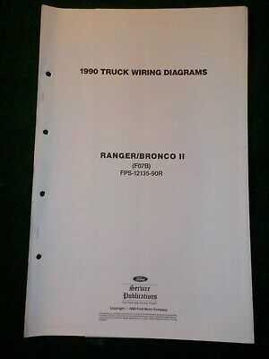 1990 ford ranger bronco ii electrical schematic wiring diagram manual