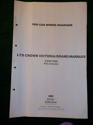 1990 ltd crown victoria grand marquis electrical schematic wiring diagram  manual