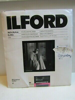 ILFORD 25 SHEETS Multigrade III 8X10 Photographic Paper