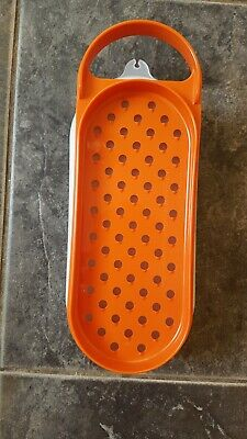 Vintage Tupperware grater and lidded container Burnt Orange, unused