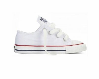 Converse CT All Star OX 7J256C Baby's Shoes White Summer Canvas Trainers