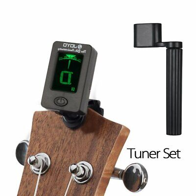 LED Clip-on Electronic Digital Guitar Tuner Chromatic Bass Violin Ukulele Puller