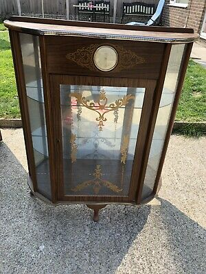 Vintage Art deco display cabinet with smiths clock