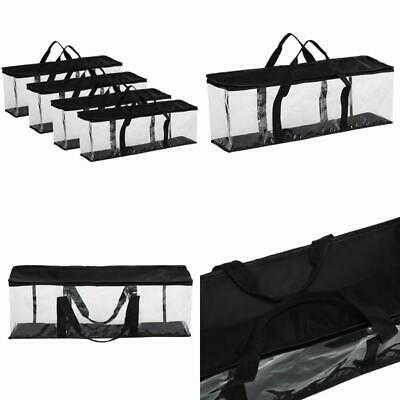 Fasmov Set of 4 DVD Storage Bags Hold up to 160 DVDs (40 Each Bag) Clear Case