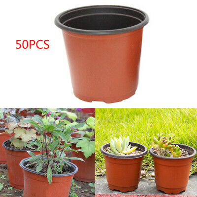 50pcs Balanced Drainage Plastic Nursery Pot Plant Seedling Holder Raising Oig