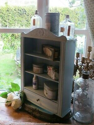 Charming Vintage French Shabby~Chic Wooden Painted  Country Cabinet~