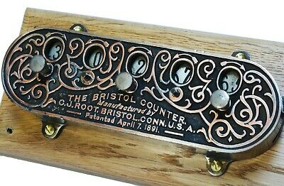 Antique mechanical counter, the 'Bristol Counter', C J Root, Connecticut.  1890s