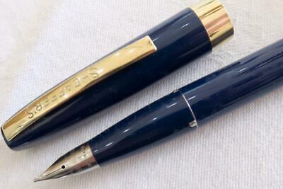Sheaffer Imperial Iii Blue With Gold Trim Touchdown Fountain Pen, Usa C1960