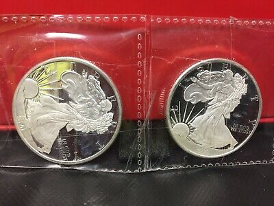 2 - Sunshine Mint 1oz Liberty Silver Round .999 Fine Silver Coins  2 oz total