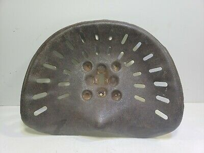 Vintage Metal Tractor Seat Antique Farm Implement Iron Equipment Tool wheel gear