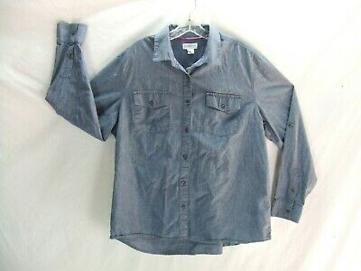 dc632a5341e Magellan Blue/Gray Chambray Roll Tab Shirt Womens Size XXL Excellent  Condition a