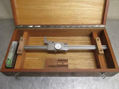 """Fowler Helios Germany .001"""" Dial Precision Height Gauge Machinist Gage 12"""" w/Box"""