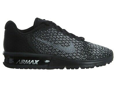 Nike Air Max Sequent 2 Womens 852465 002 Black Grey Knit Running Shoes Size 9
