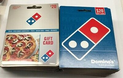Dominos No-Value Gift Cards Lot Of 60