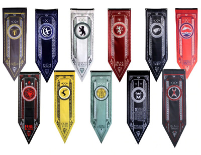 Home Decor Game Of Thrones Banner Flag House Stark Tully Targaryen Lannister Bar