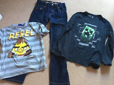 Boys Bundle Blue Zoo Jeans Minecraft Angry Birds Star Wars T Shirts Age 12 Years