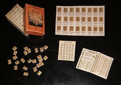 Dollhouse Miniature Viking Nordic Runes Boxed Set Magic Fortune Mystical 1:12