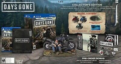 Days Gone Collector's Edition PS4 Playstation 4 Brand New PRESALE