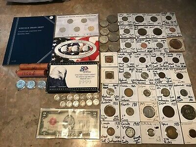 Mix Coin Lot/Bundle US and Foreign Coins