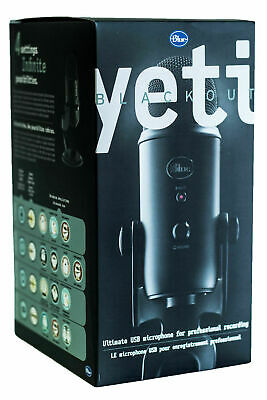 Blue Yeti USB Microphone - Blackout Edition - Free Shipping - Brand New