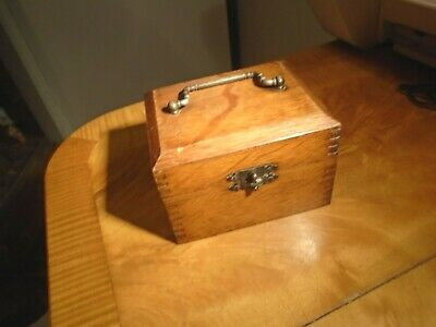 Well Made,useful Little Antique/vintage Oak Box-Scientific Instrument??