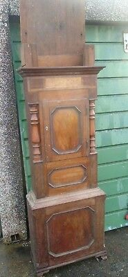 Georgian Mahogany Grandfather Clock Case (Just The Wooden Case)
