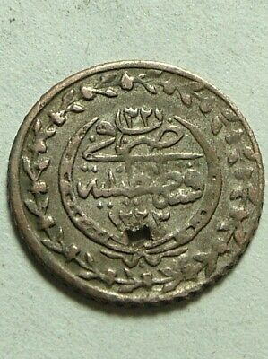 Rare Genuine Islamic billon coin/Ottoman Empire/Turkey Istambul/Mahmud II 1866AD