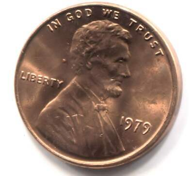1979 P Lincoln Memorial Penny Uncirculated American One Cent Coin - Philadelphia