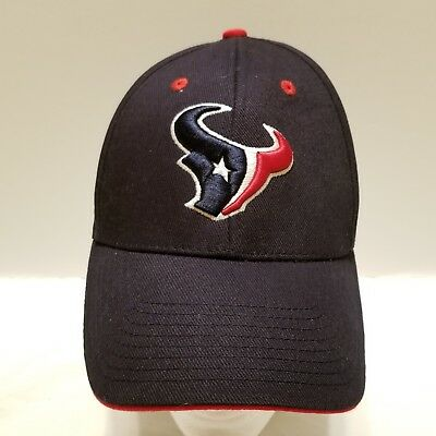 ad7272aa NFL Team Apparel Houston Texans Adjustable Strapback Hat Cap Blue w/ Red  Trim