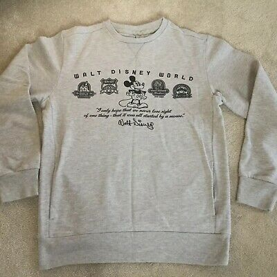Walt Disney World Grey Marl Sweatshirt - Size Large