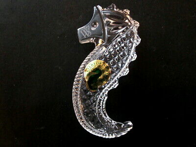 """Waterford Crystal Seahorse """"Hand Cooler"""" in Original Gift Box - Mint Condition"""
