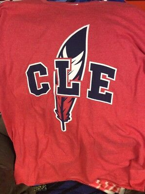 2dbb66cc CLEVELAND INDIANS FEATHER Tee Shirt Mens Size Large Brand New ...