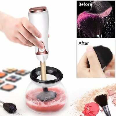 Makeup Brush Cleaner Cup, Clean Makeup Brushes And Dry In 360 Rotation