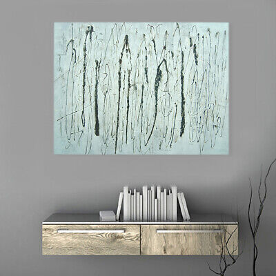 Hand Painted Oil Painting Framed Canvas Modern Art Wall Home Decor - Line Art