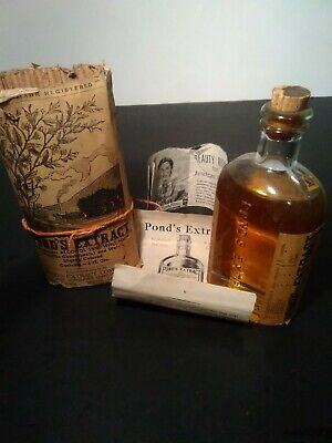 Antique Pond's Extract 6Oz Quack Medicine Bottle