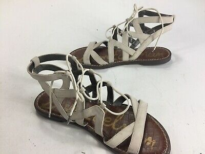 74785093c3a1 NWB SAM EDELMAN Genesee Saddle Lea Flat Sandals Us 6.5M -  40.00 ...