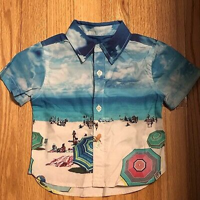 Sovereign Code Baby Boy'S Beach Print Shirt, 6M, New With Tags