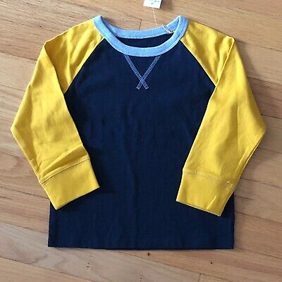 Gap Toddler Boys Short Sleeve Blue & Gold Pocket Tee Shirt, 3T, New With Tags