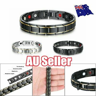 Therapeutic Energy Healing Bracelet Stainless Steel Magnetic Therapy Bracelet 4C