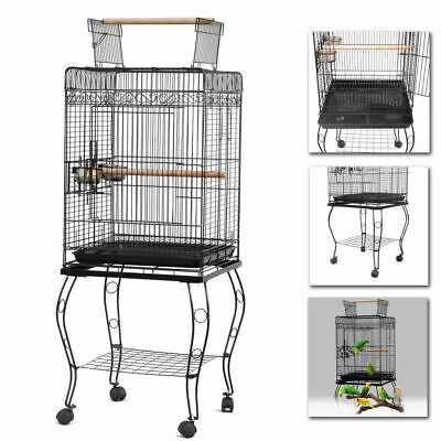 d0d5c42d94c6 LARGE 58-INCH PARROT Bird Cage Open Play-Top With Stand Wheel ...