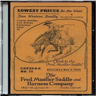 Fred mueller Saddle and Harness Company Catalog No. 75 on CD - Saddles and more