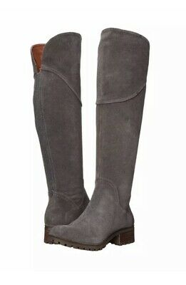 6e2de692344 Lucky Brand Harleen Over The Knee Boots Size 7 M Storm Grey Suede New No Box