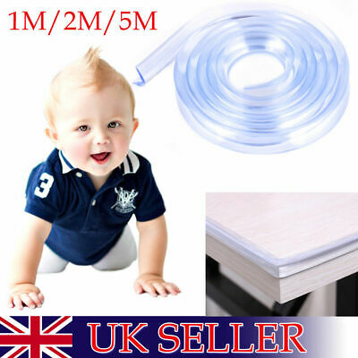 1/2/5m Soft Silicone Table Corner Protector Cushion Edge Strip Baby Child Safety