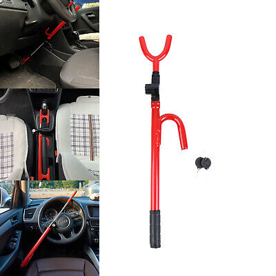 Anti-Theft Steering Wheel Lock TO Pedal Car Truck SUV Auto Van Universal Red