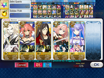 NA FGO / Fate Grand Order Starter Account Vlad III Waver Tamamo + 250 SQ