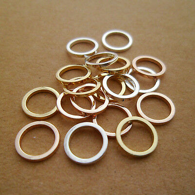 30pcs DAINTY Gold Silver & Rose Gold Geometry Circle Connectors Links Wedding