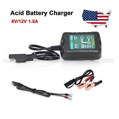 12V 1.5A Battery Charger Maintainer Automobile Car Trickle Motorcycle US