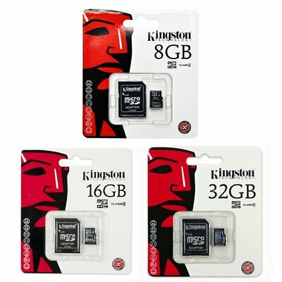 Kingston 8GB 16GB 32GB MicroSD Micro SD Class 4 C4 Karte Card SPEICHERKARTE Neu