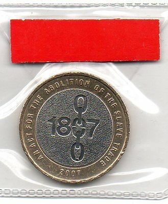 GREAT BRITAIN £2 pound coin 2007 200th Anniversary Abolition of Slavery