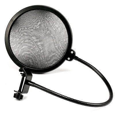 Studio Recording Dual Layer Microphone Mic Windscreen Pop Filter Mask Shield